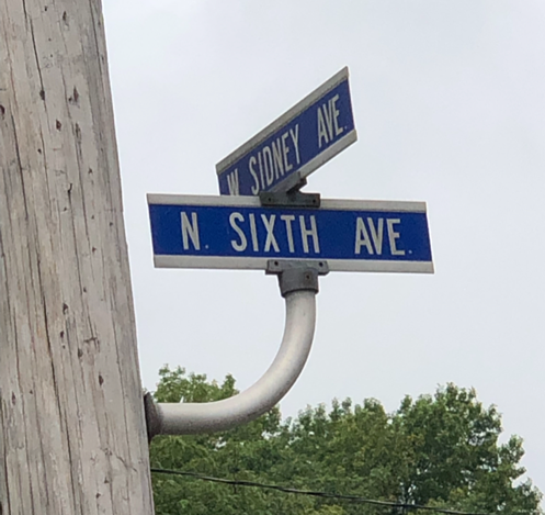 North 6th Street Sign